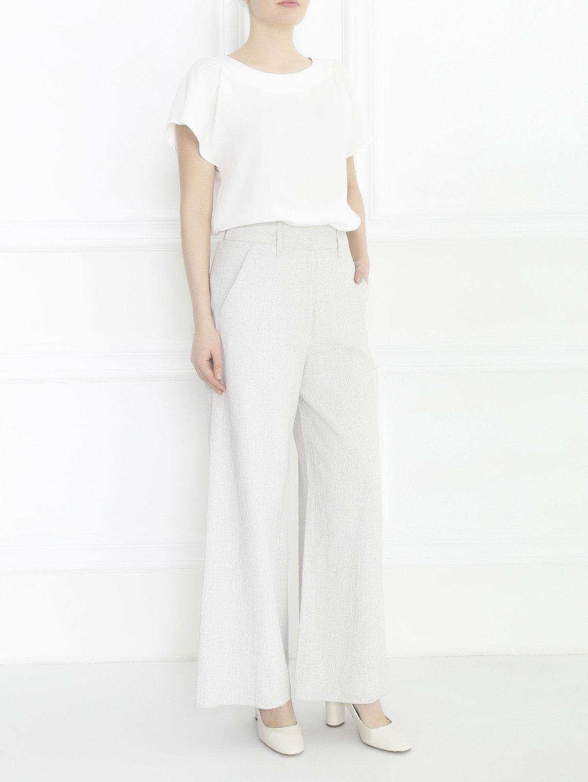 Широкие брюки из льна Maison Martin Margiela  –  Модель Общий вид