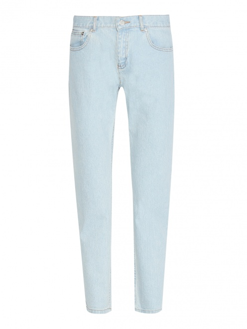 Укороченные джинсы из светлого денима - Общий вид