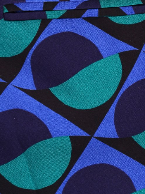 Укороченные брюки с геометричным узором - Деталь