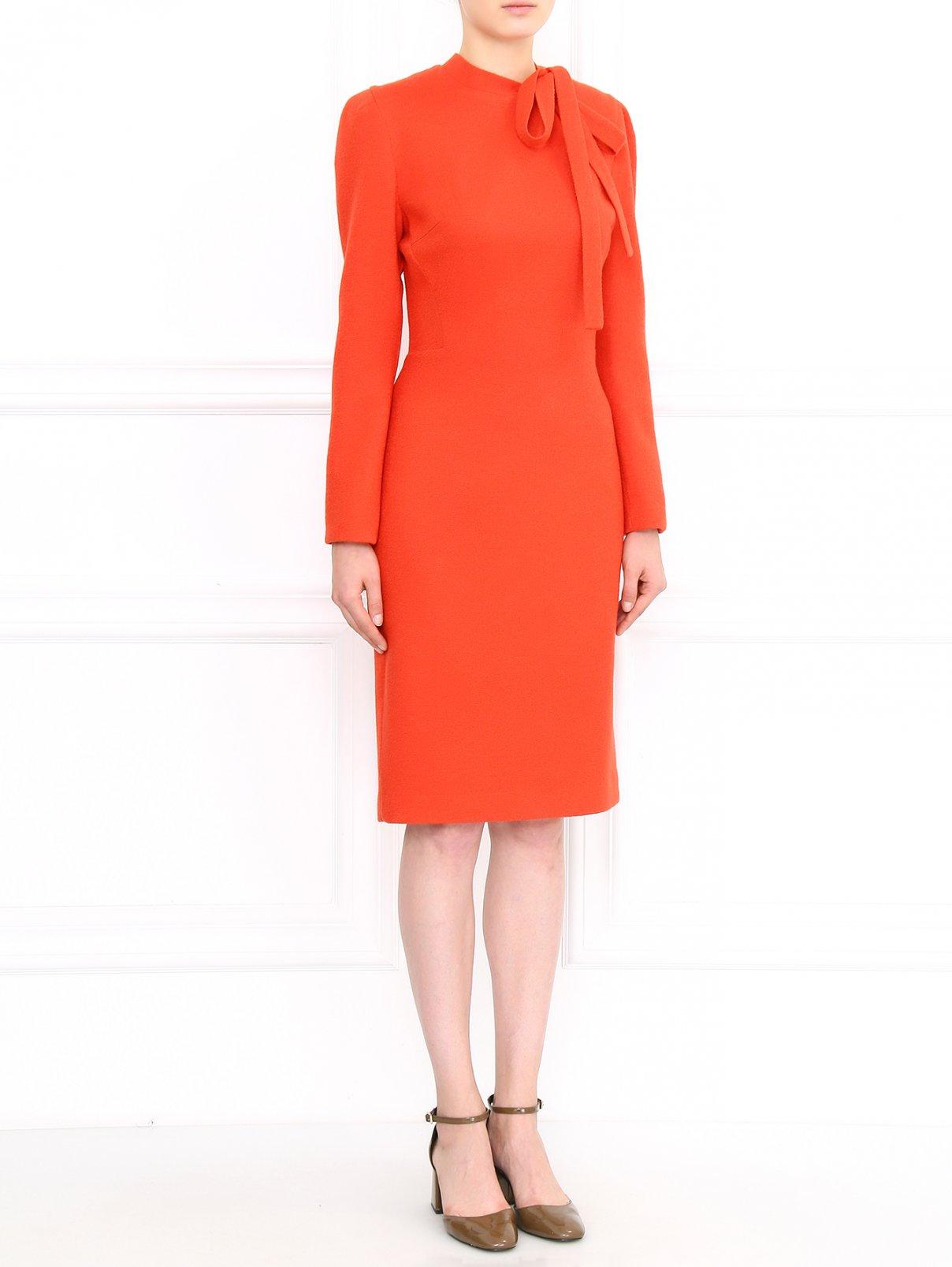 Платье-футляр из шерсти шелка и кашемира Ermanno Scervino  –  Модель Общий вид