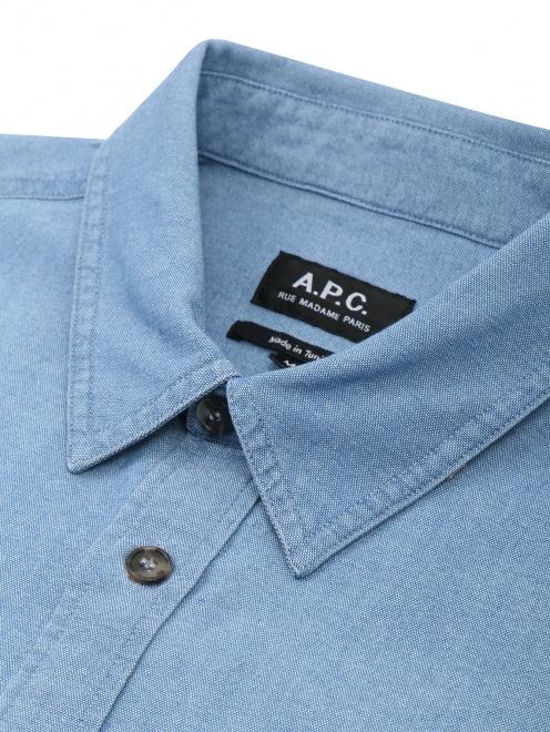 Рубашка хлопковая прямого кроя - Деталь