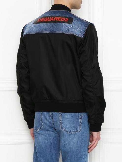 Куртка со вставкой из денима - МодельВерхНиз1