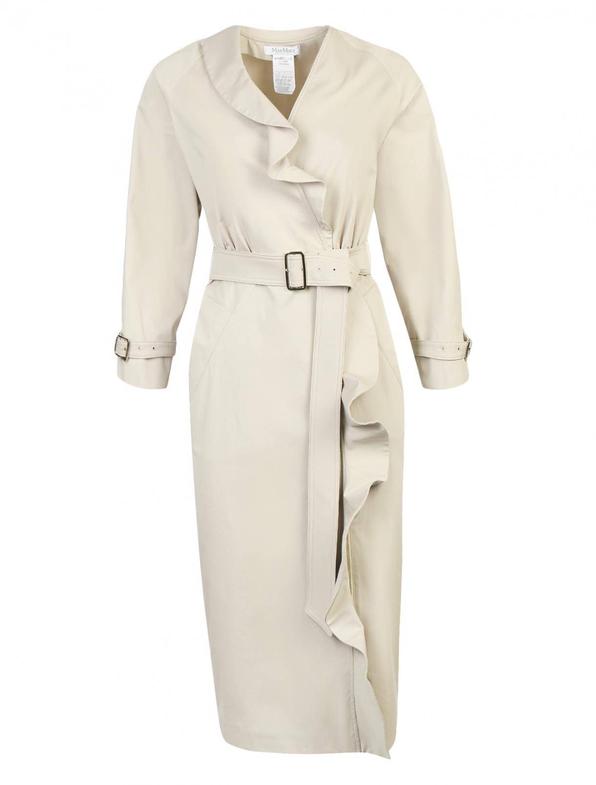 Платье-миди из хлопка с драпировкой Max Mara  –  Общий вид