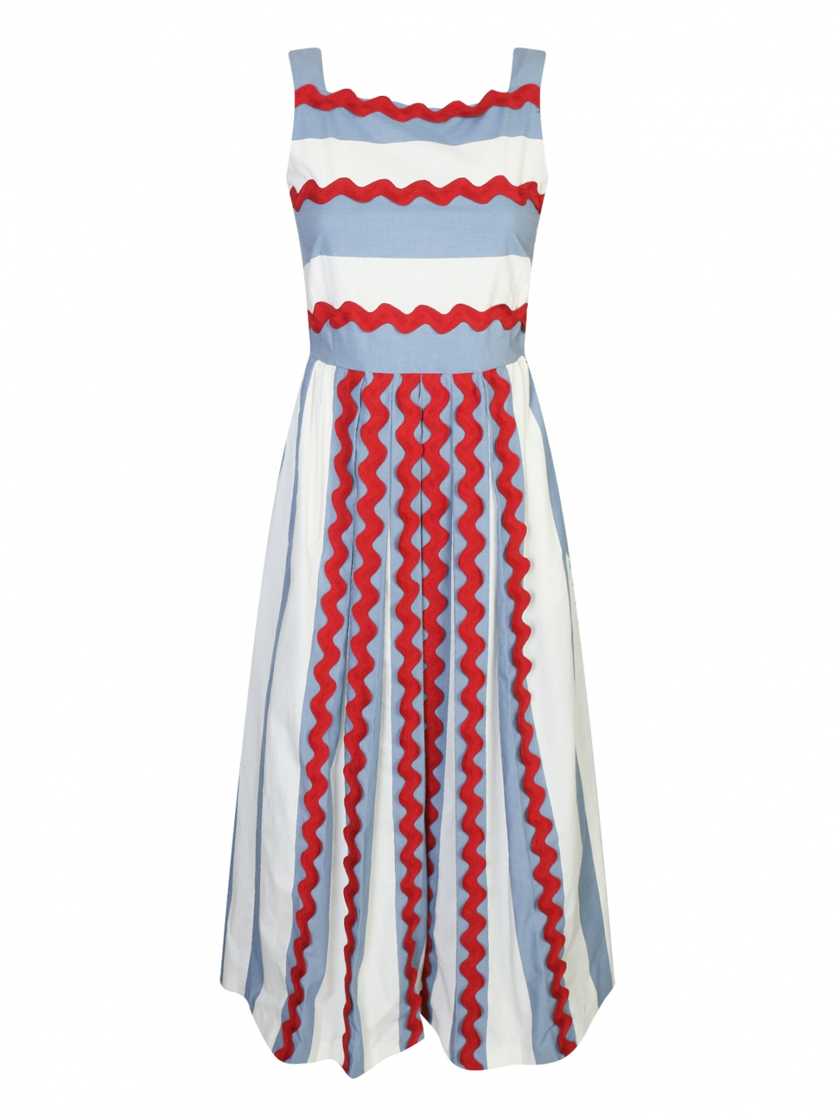 Платье из хлопка в полоску Weekend Max Mara  –  Общий вид
