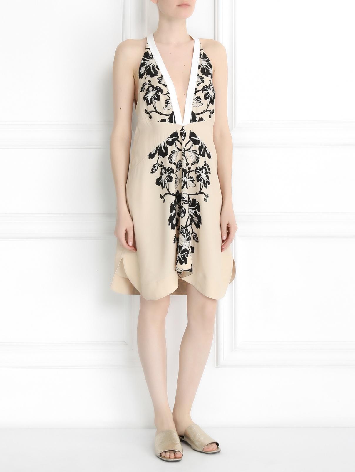 Платье с цветочным узором La Perla  –  Модель Общий вид