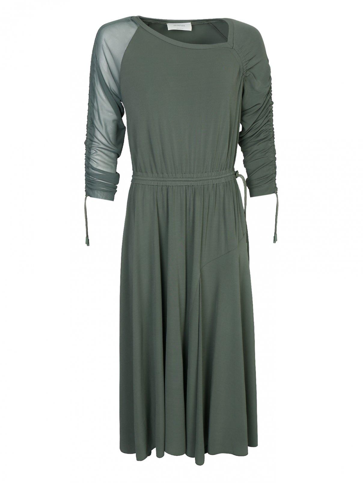 Трикотажное платье-миди на резинке Sportmax  –  Общий вид