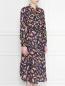 Платье из шелка, с геометричным узором Essentiel Antwerp  –  МодельВерхНиз