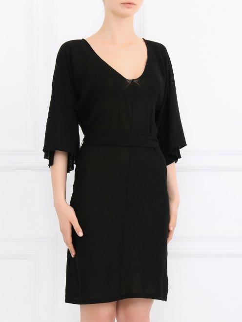 Платье-мини с рукавами 3/4 - Модель Верх-Низ