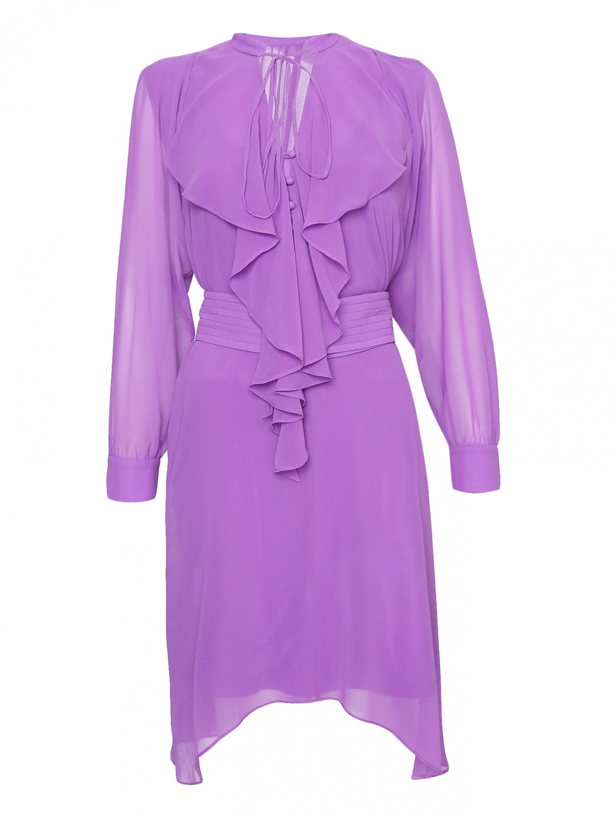 Платье-миди свободного кроя с поясом Mo&Co  –  Общий вид