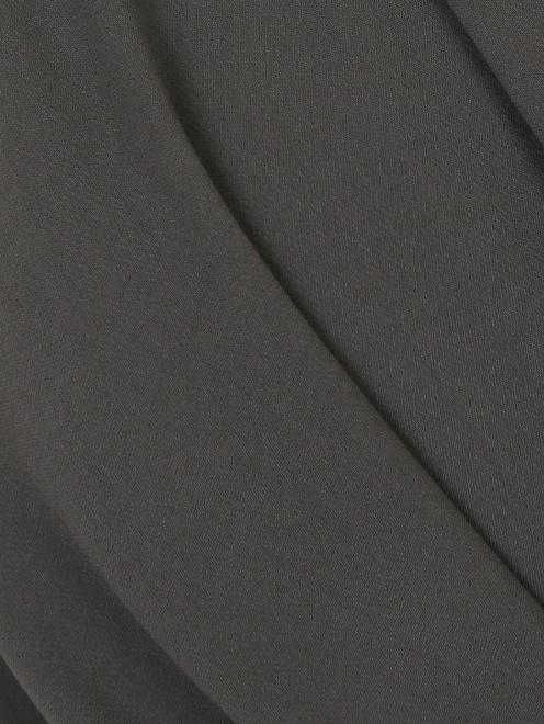 Платье-макси из шелка с драпировкой - Деталь1
