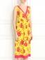 Платье из шелка с цветочным узором P.A.R.O.S.H.  –  Модель Верх-Низ
