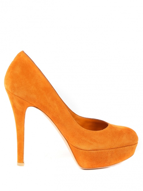Туфли из замши на высоком каблуке - Обтравка1