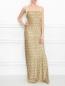 Платье-макси на бретелях из фактурного материала Alberta Ferretti  –  МодельОбщийВид