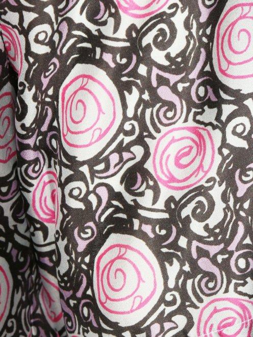 Блуза из шелка с узором - Деталь