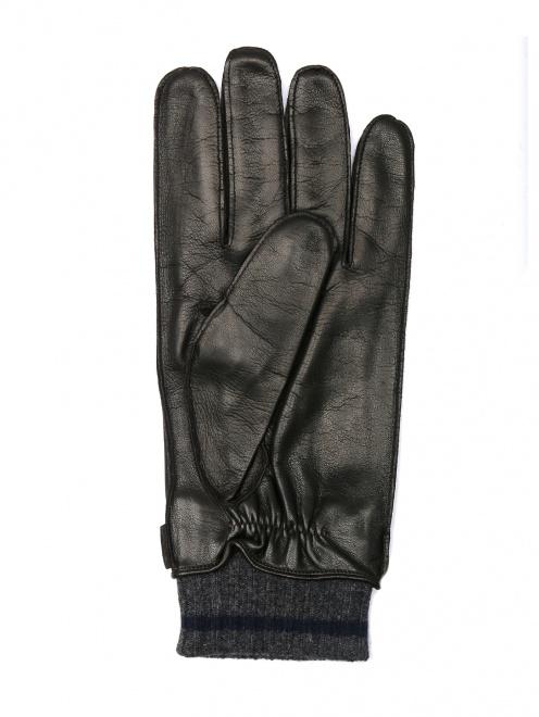 Перчатки кожаные с вязаной подкладкой - Обтравка1
