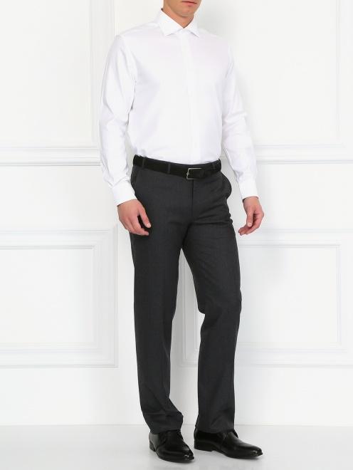 Классическая хлопковая рубашка  - Модель Общий вид