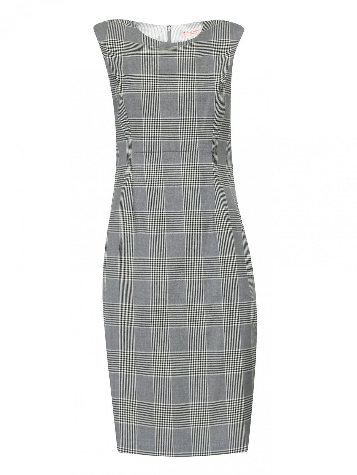 Платье-футляр из шерсти с узором Brooks Brothers  –  Общий вид