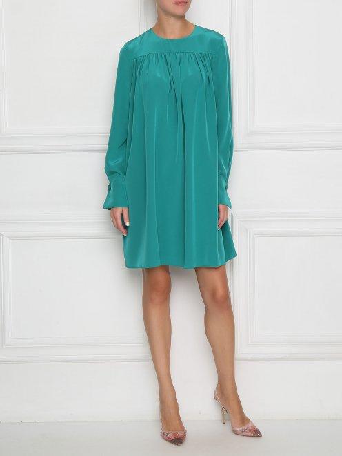 Платье свободного кроя с драпировкой - Общий вид