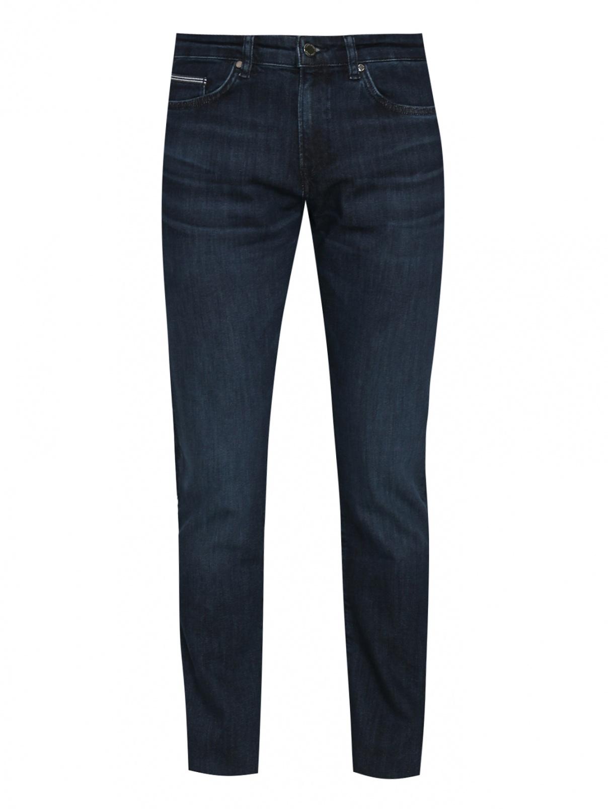 Джинсы из хлопка с карманами Boss  –  Общий вид  – Цвет:  Синий
