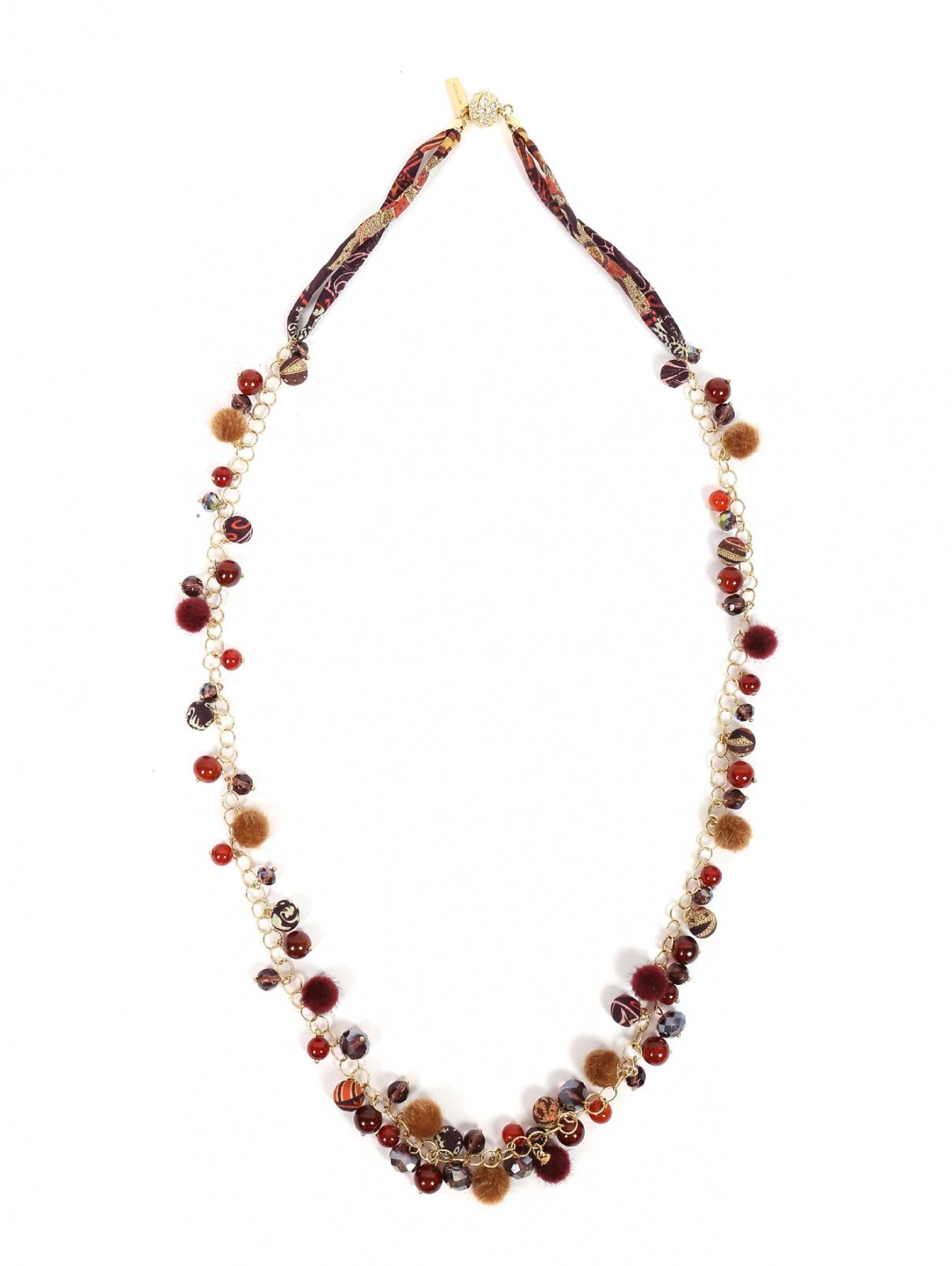 Ожерелье из меди стекла и шелка Etro  –  Общий вид  – Цвет:  Мультиколор