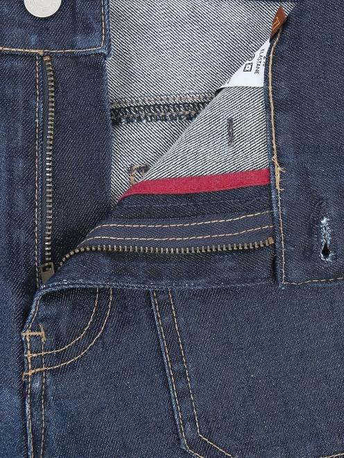 Джинсы-клеш с накладными карманами - Деталь1
