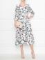 Платье из шелка с цветочным узором Max Mara  –  МодельОбщийВид