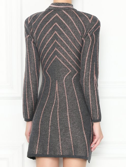 Трикотажное платье-мини из шерсти с узором - МодельВерхНиз1