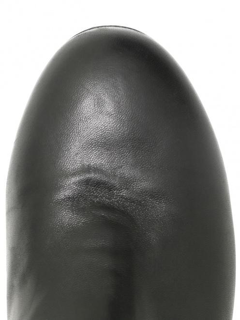 Сапоги из кожи с меховой отделкой  - Обтравка3
