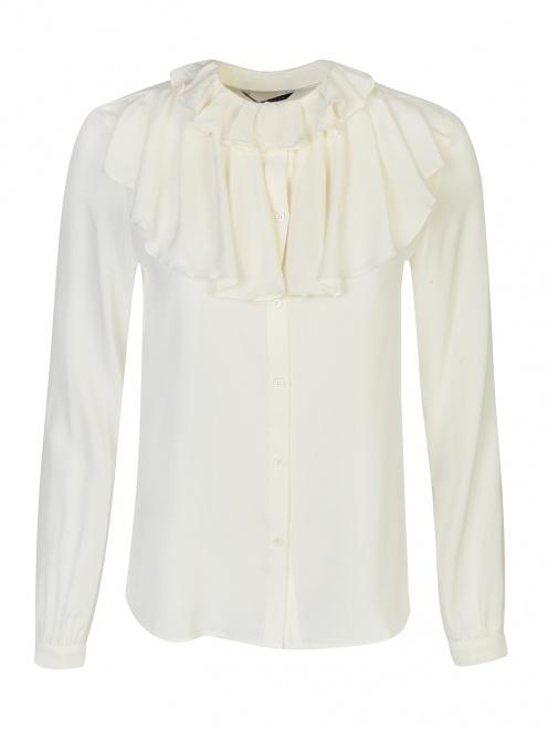 Блуза из шелка с воланами - Общий вид