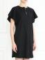Платье-мини из шерсти свободного кроя с карманами Emporio Armani  –  МодельВерхНиз