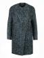 Пальто из смешанной шерсти с узором Cedric Charlier  –  Общий вид