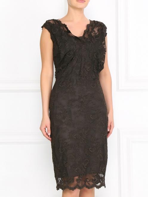 Кружевное платье-футляр - Модель Верх-Низ