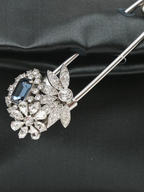 Сумка из текстиля декорированная кристаллами - Деталь