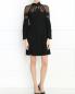 Платье-мини из шелка с отделкой из кружева Alberta Ferretti  –  Модель Общий вид