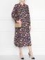 Платье из шелка, с геометричным узором Essentiel Antwerp  –  МодельОбщийВид