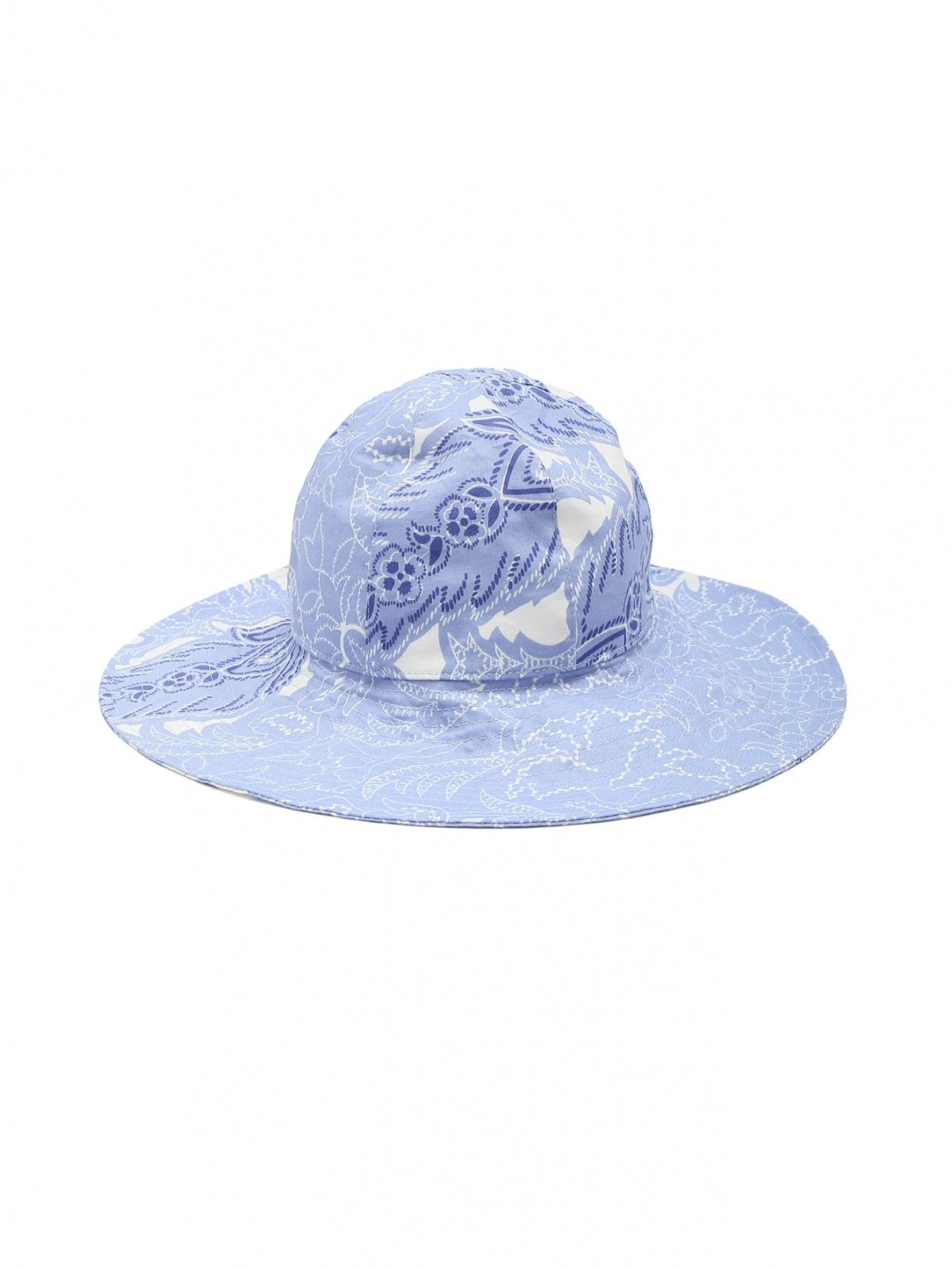 """Шляпа с узором """"пейсли"""" Etro  –  Общий вид  – Цвет:  Синий"""