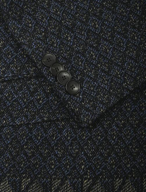 Пиджак однобортный из льна с узором  - Деталь