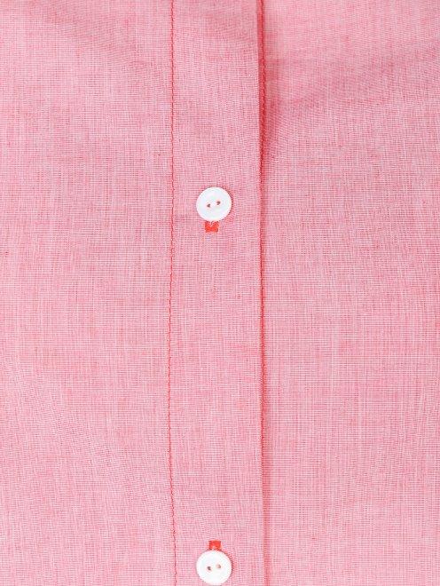 Блуза свободного кроя из хлопка - Деталь