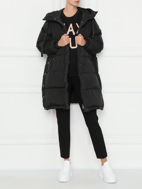 Стеганая куртка оверсайз - Общий вид