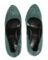 Туфли из замши на танкетке со скрытой платформой декорированные шипами Giacomorelli  –  Обтравка4