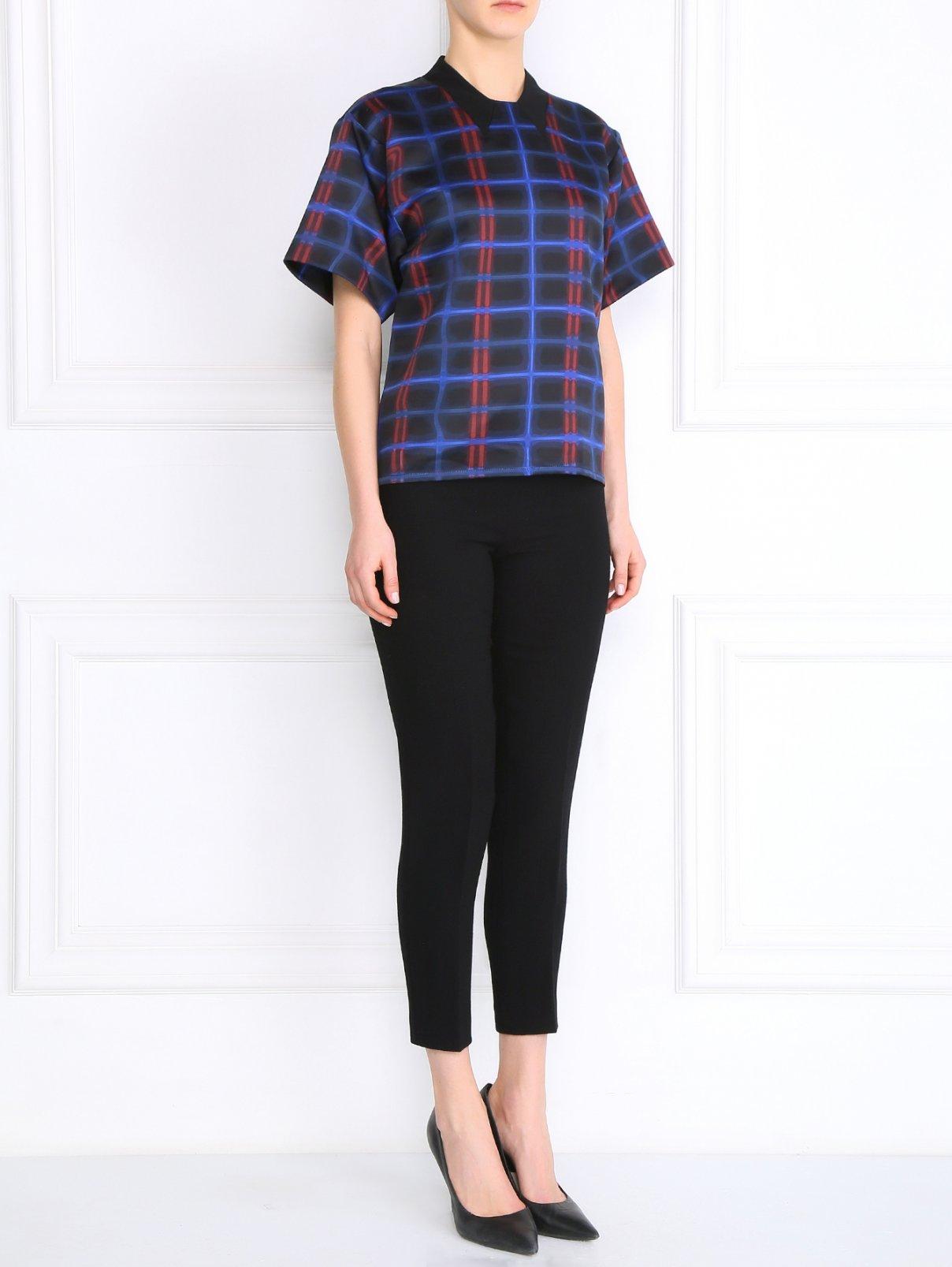 Прямые брюки со стрелкам из шерсти Moschino Cheap&Chic  –  Модель Общий вид