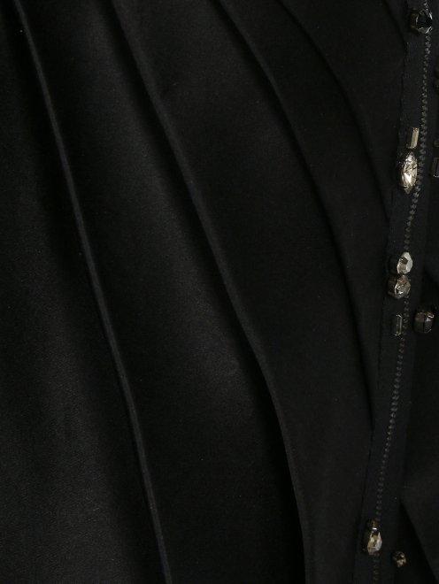 Платье из шелка декорированное кристаллами - Деталь1