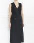 Платье-макси из шерсти с поясом Jil Sander  –  Модель Верх-Низ