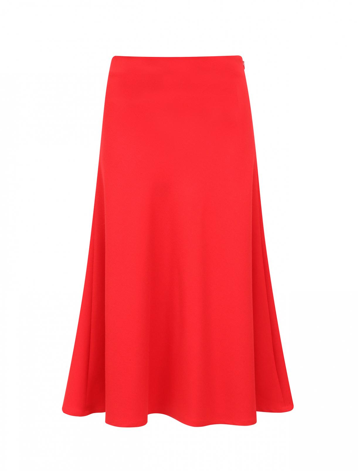 Классическая юбка-миди Les Petites...  –  Общий вид  – Цвет:  Красный