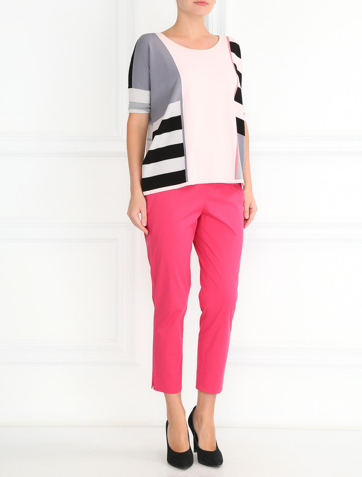 Укороченные брюки из хлопка Devernois  –  Модель Общий вид