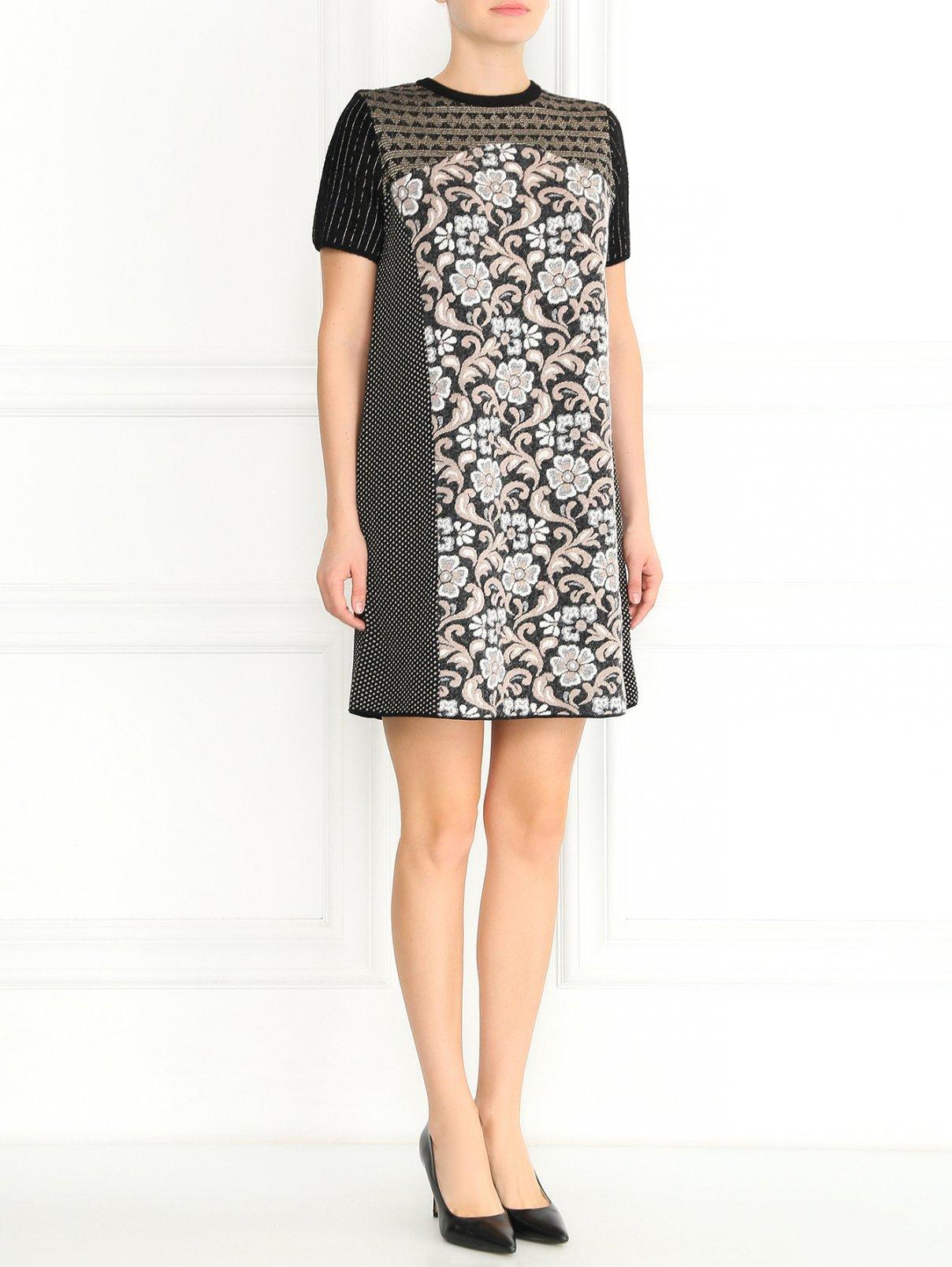 Трикотажное платье с короткими рукавами и узором Antonio Marras  –  Модель Общий вид