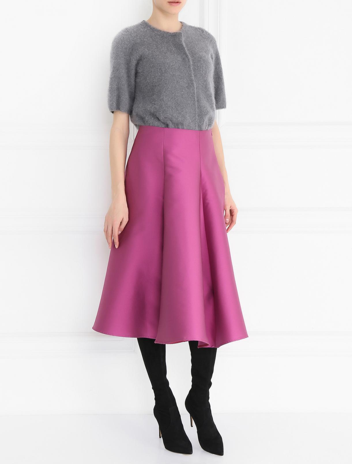 Юбка - миди широкого кроя Tara Jarmon  –  Модель Общий вид  – Цвет:  Фиолетовый