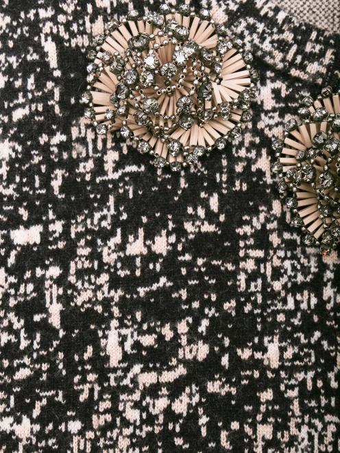 Джемпер из шерсти с узором и декоративной отделкой - Деталь