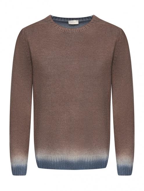 Джемпер из смешанной шерсти с узором градиент - Общий вид