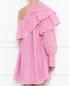 Перфорированное платье из хлопка с одним рукавом MSGM  –  МодельВерхНиз1